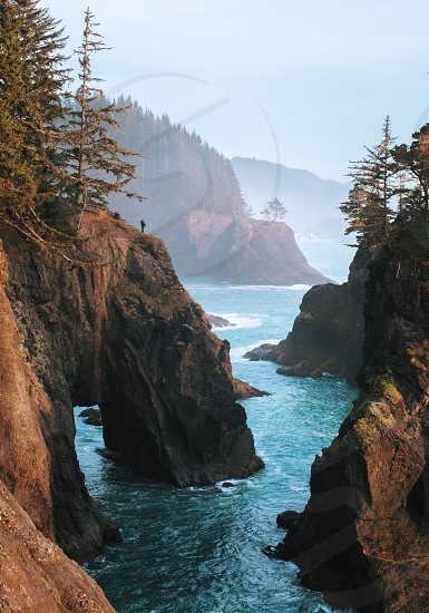 Oregon cost seascape cliff ocean photo