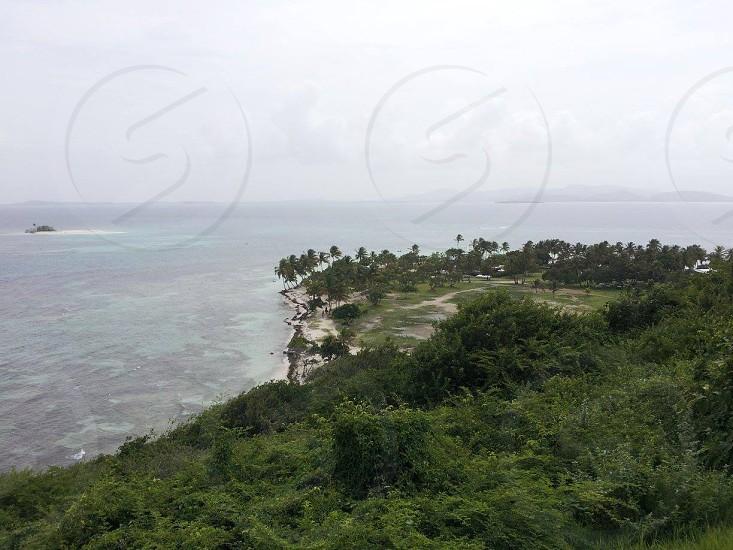 View of Palominitos Island Puerto Rico photo