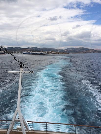Boat  sailing mountain photo