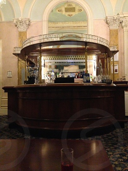 The bar in a 19th century hotel in England. photo