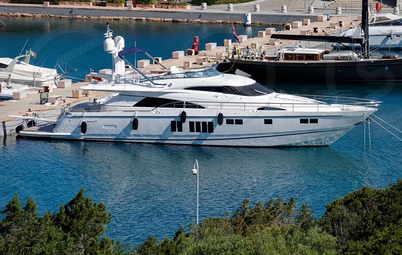 View of the marina at Porto Cervo Sardinia photo