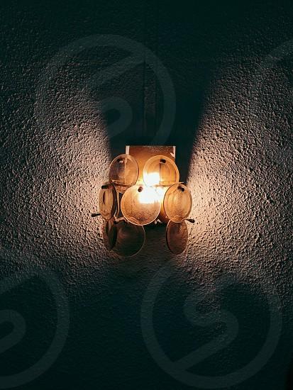 Lamp lampshade light vintage circle photo