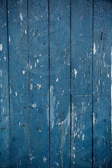 Wooden panels wood blue Scotland travel photo