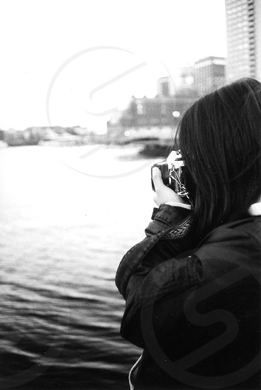 woman taking picture photo