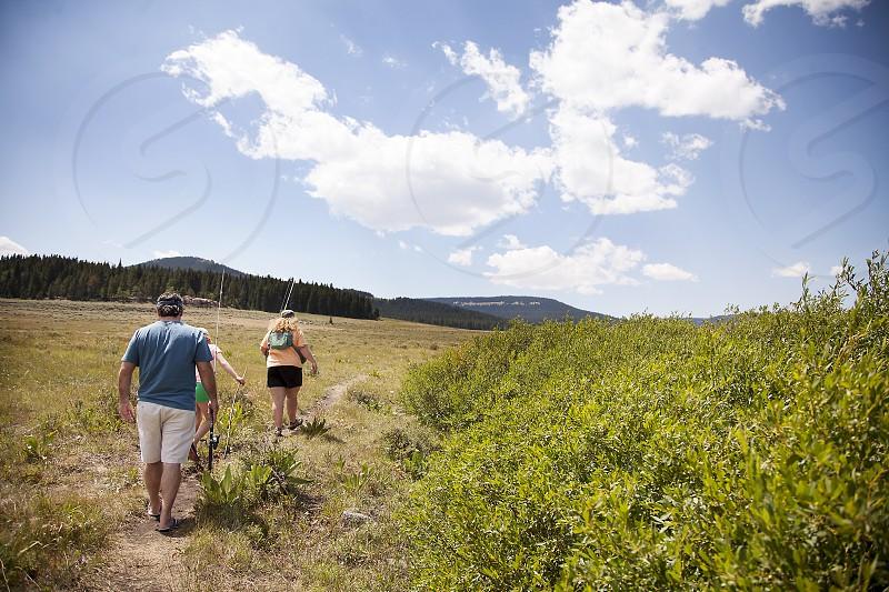 Family; fishing; Wyoming; Big Horn Mountains; nature; travel photo