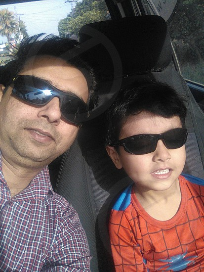 Me with my son photo