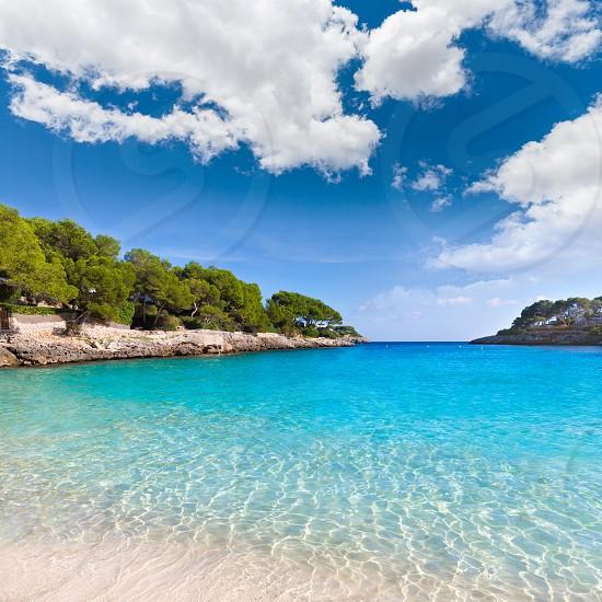 Majorca Cala Gran Beach in Cala Dor in Mallorca Santanyi at Balearic Islands of Spain photo