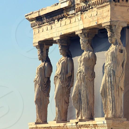 Athens Acropolis Caryatids Greece photo