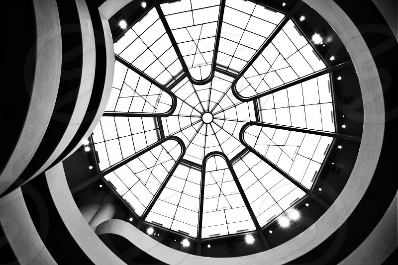 worms eye view of hall ceiling photo