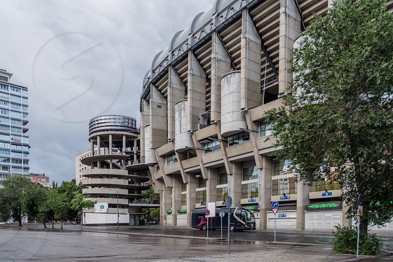Santiago Bernabeu Stadium. It is the current home stadium of Real Madrid Football Club.  photo