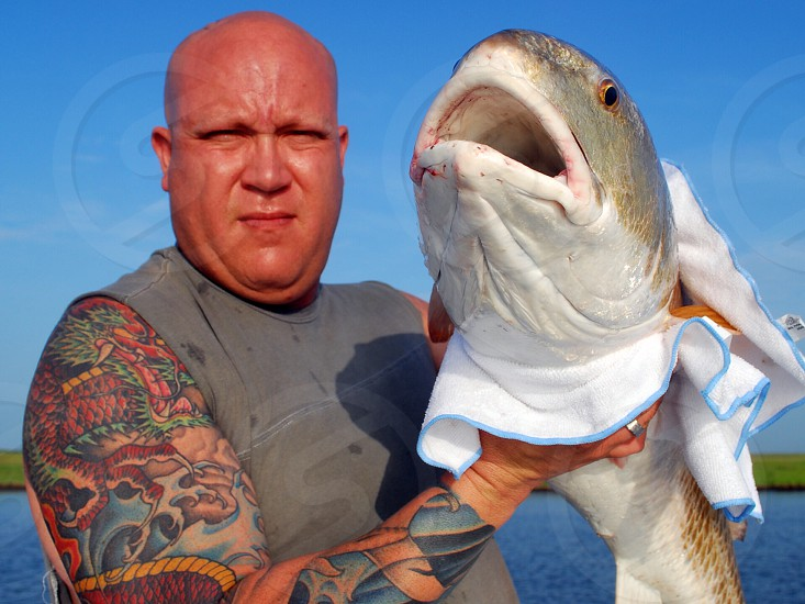 Fishing in the Gulf of Mexico for Redfish photo
