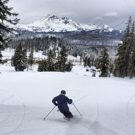 #ski #skiing #winter #snow #oregon #mtbachelor #brokentop photo