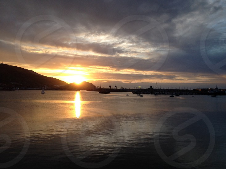Sunset in the Basque Country photo