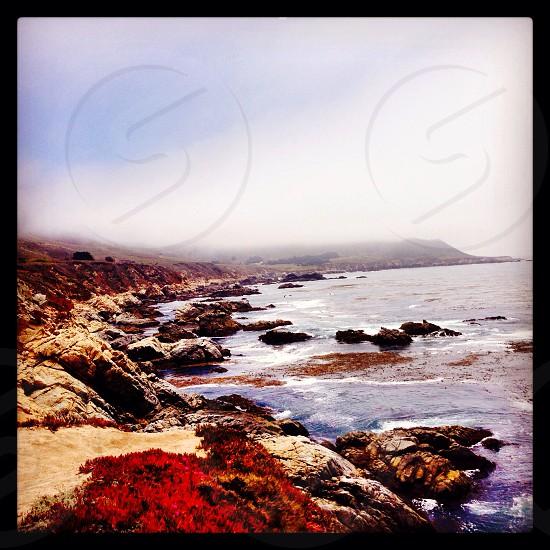 Monterey California road windy coast long drive road trip rocks  photo