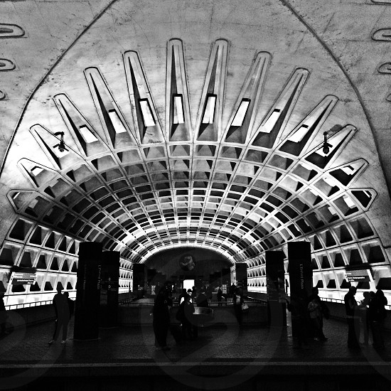 Metro DC subway train architecture  photo