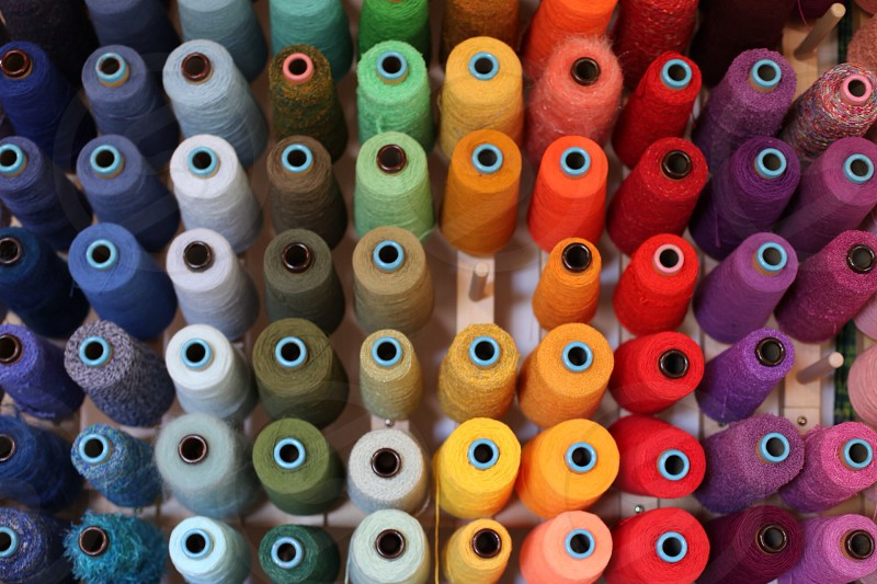multicolored thread collection photo