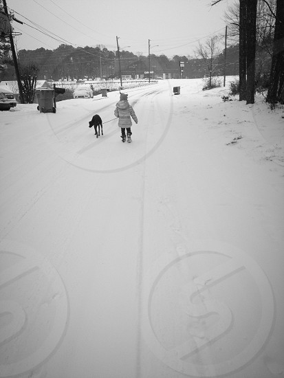 Snow walk photo