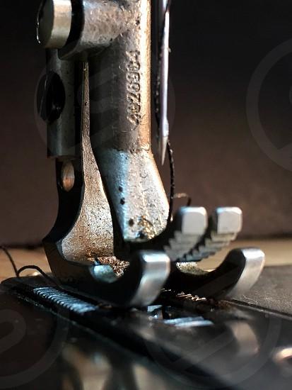 close up photo of sewing machine photo
