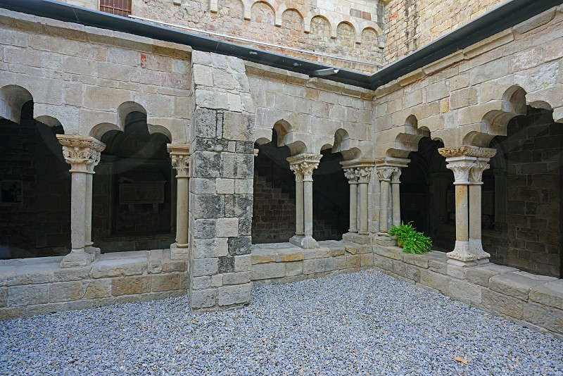 Sant Pau del Camp church in Barcelona Spain photo