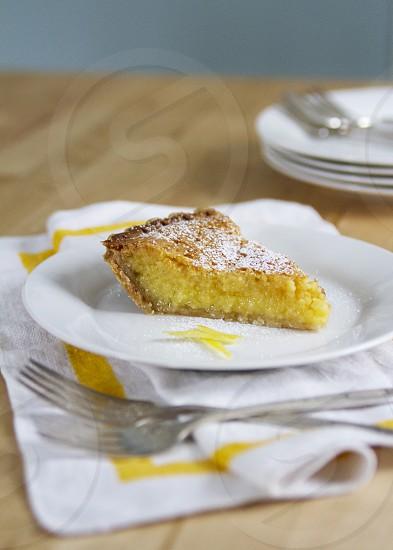 lemon pie dessert tart photo