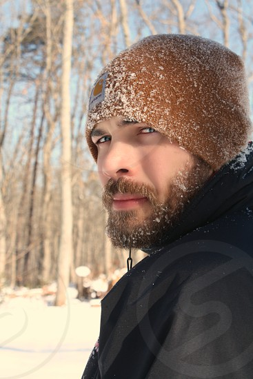 Bearded snow man photo
