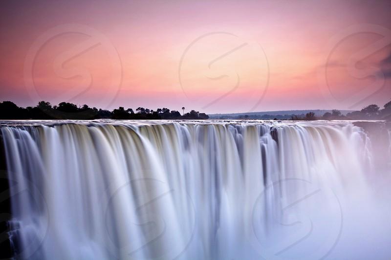 Victoria falls at dusk photo
