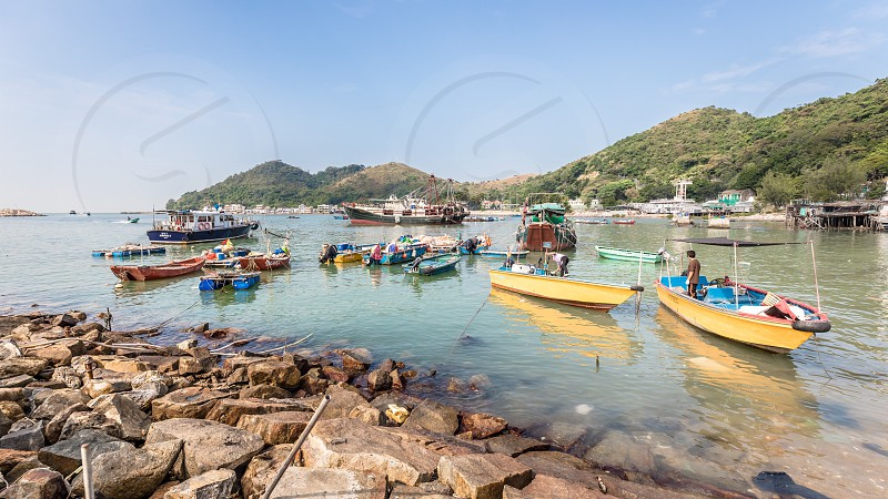 Tai O village on lantau island hongkong water ocean boat photo