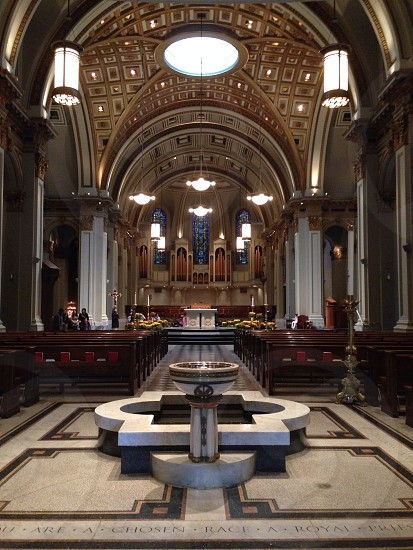 Inside St. James Cathedral in Seattle WA photo