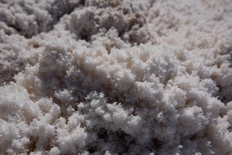 Badwater Basin Death Valley salt textures macro in California National Park photo