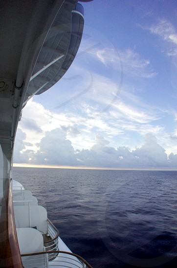 View of the ocean from a cruise ship photo
