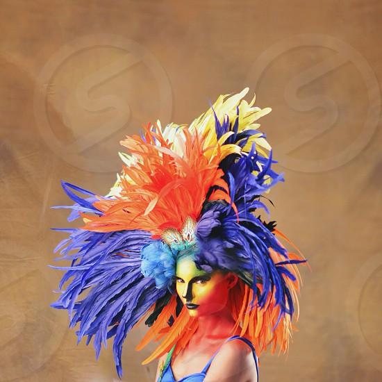 women's multicolored mask photo