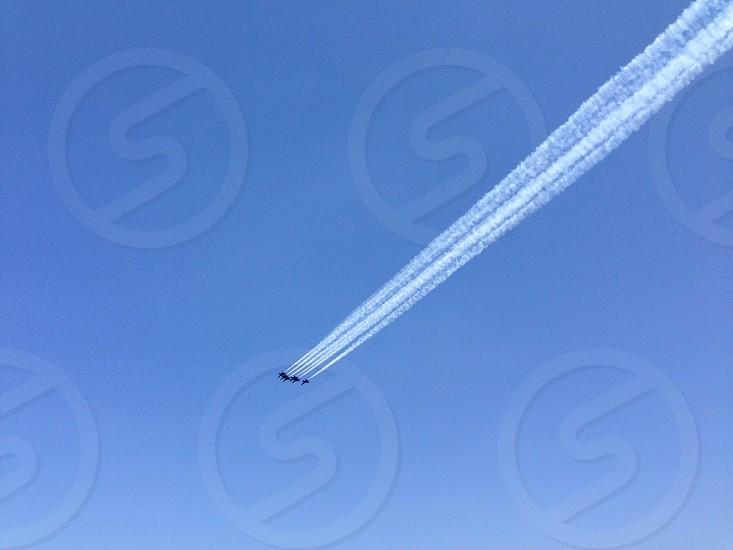 view of 5 jet planes photo