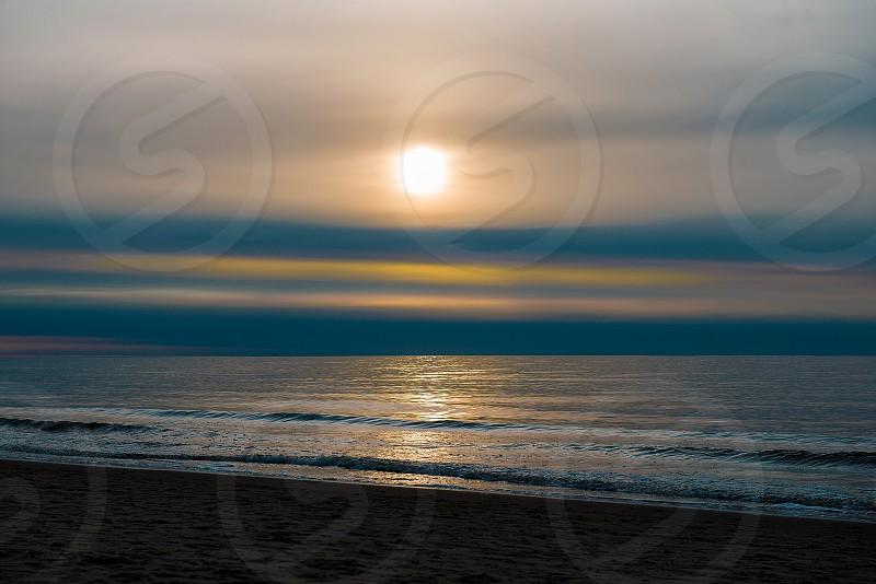 Beautiful Sunset At The Sea photo