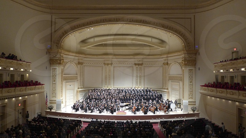 symphony orchestra on stage photo