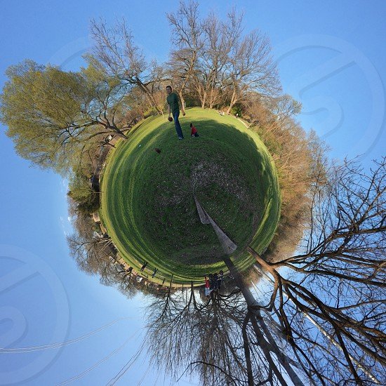 Mini world park nature green sphere  photo