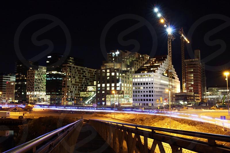 Oslo by night photo