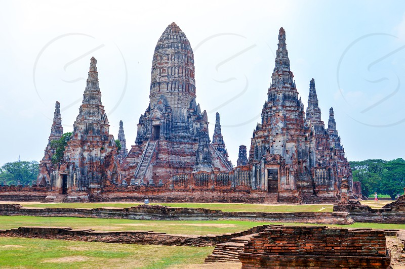 Wat Chaiwatthanaram one of the most important Buddhist temple inside the complex of Ayutthaya Historical Park in Phra Nakhon Si Ayutthaya Thailand photo
