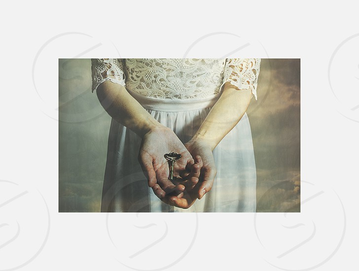 key beginning hands woman photo