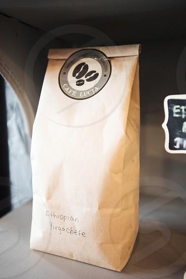 coffee beans bag cafe photo