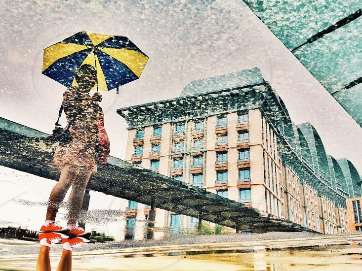 Umbrella reflection  photo