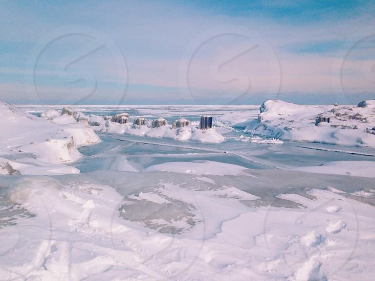 Frozen Lake Michigan Chicago  photo