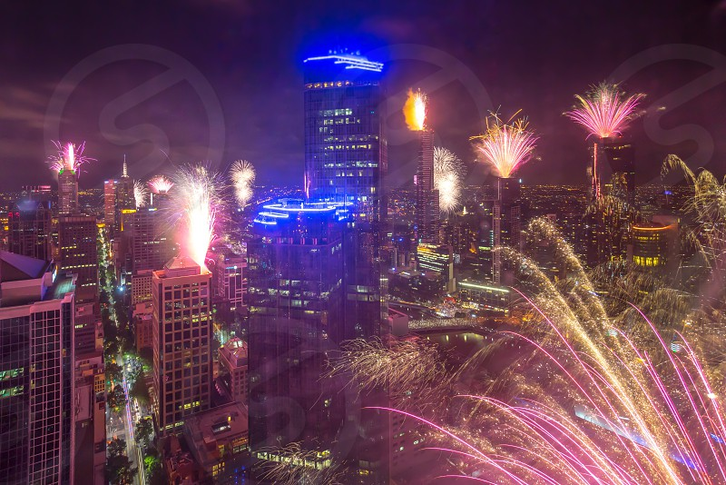 Melbourne New Year eve Fireworks  photo