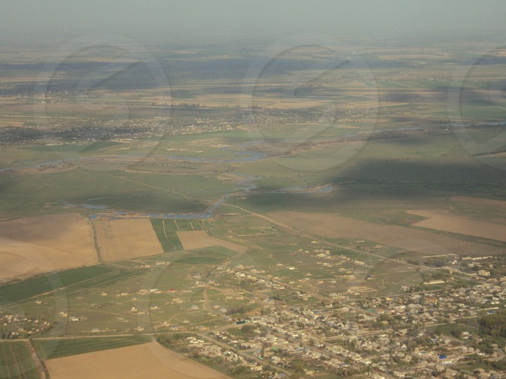 Afghani villages from air photo