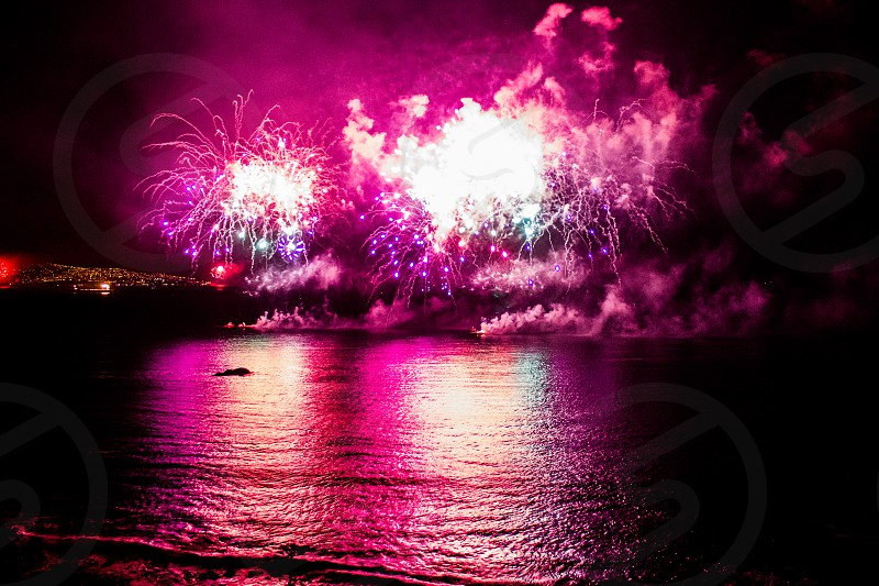Fireworks show at Viña del Mar Chile during new years eve! photo