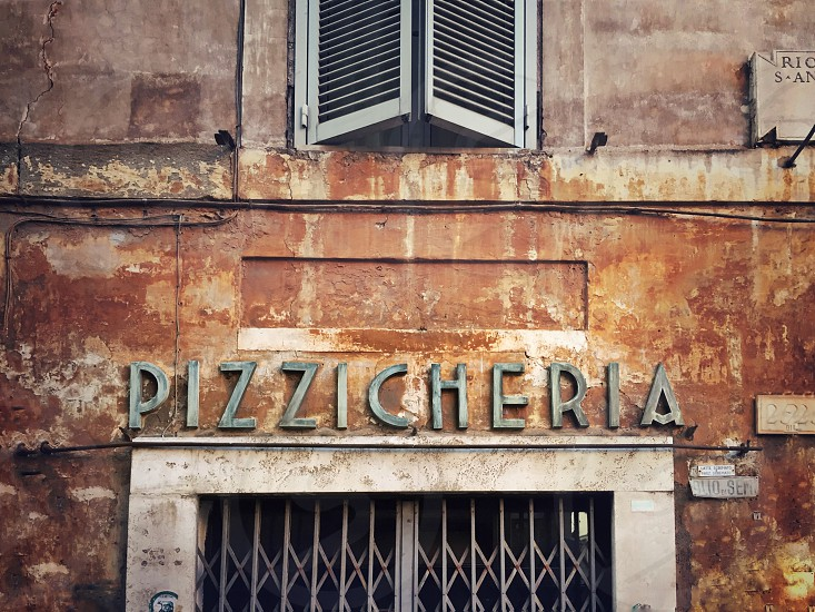 Vintage grocery store in Rome photo
