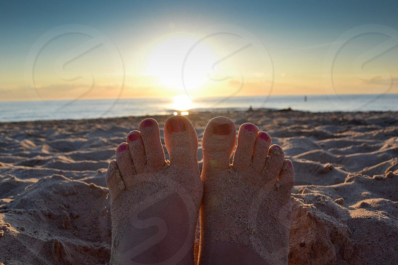 Toes in the Sand photo