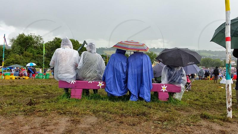 Glastonbury Rain.  photo