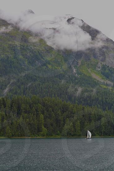St Moritz Lake - Switzerland photo
