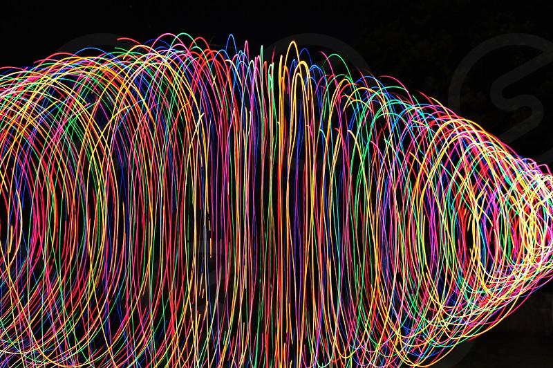 purpleredblue spiral light effects photo