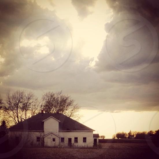 Rural Iowa abandoned house  photo